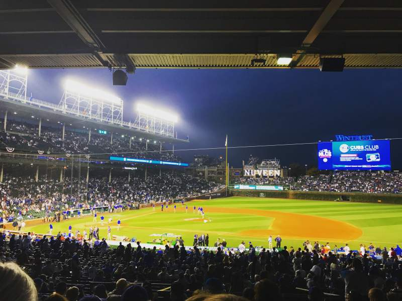 Seating view for Wrigley Field Section 229 Row 10 Seat 8
