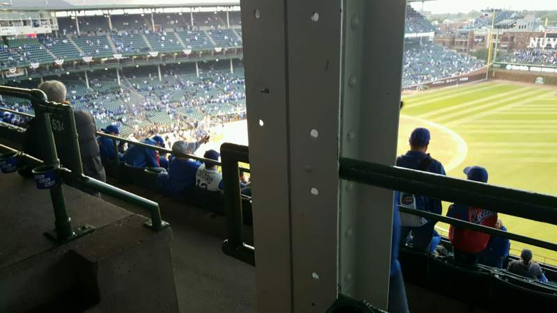 Seating view for Wrigley Field Section 534 Row 1 Seat 1,2