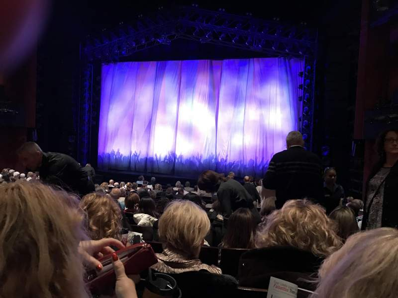 Seating view for Marquis Theatre Section Orchestra C Row R Seat 124
