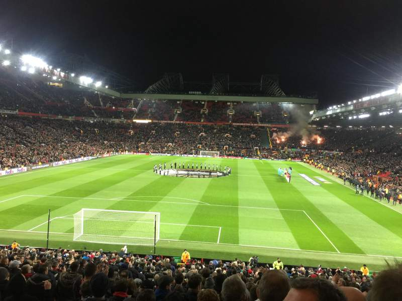 Seating view for Old Trafford Section W206 Row 20 Seat 166