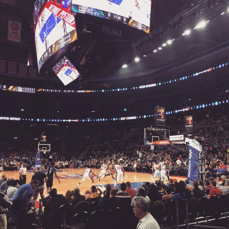 The Palace of Auburn Hills, section: 110, row: AA, seat: 1