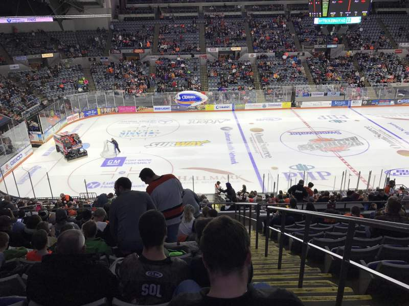 Seating view for Allen County War Memorial Coliseum Section 402 Row 1 Seat 1