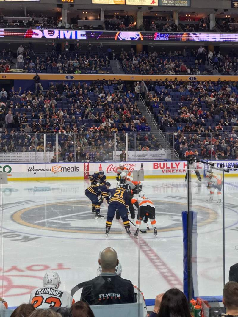 Seating view for KeyBank Center Section 105 Row 8 Seat 16