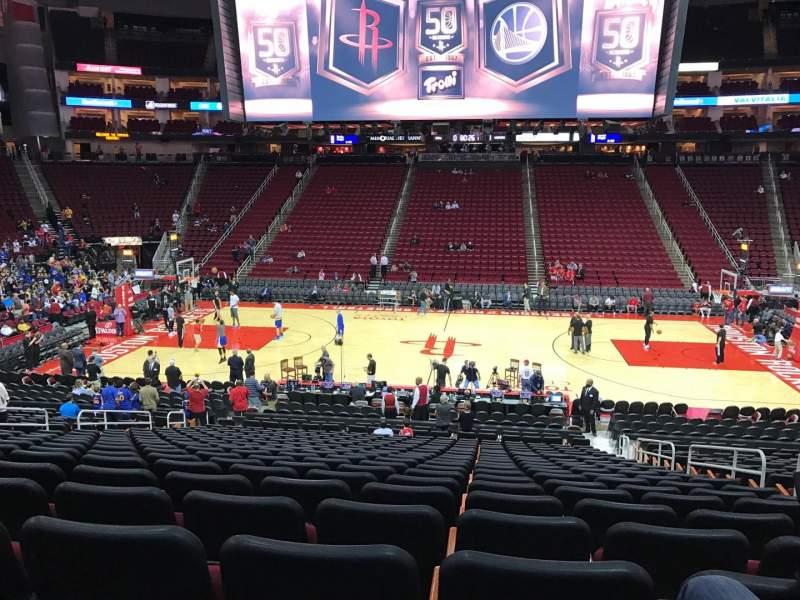 Toyota Center Section 120 Row 21 Seat 5 Houston Rockets Vs