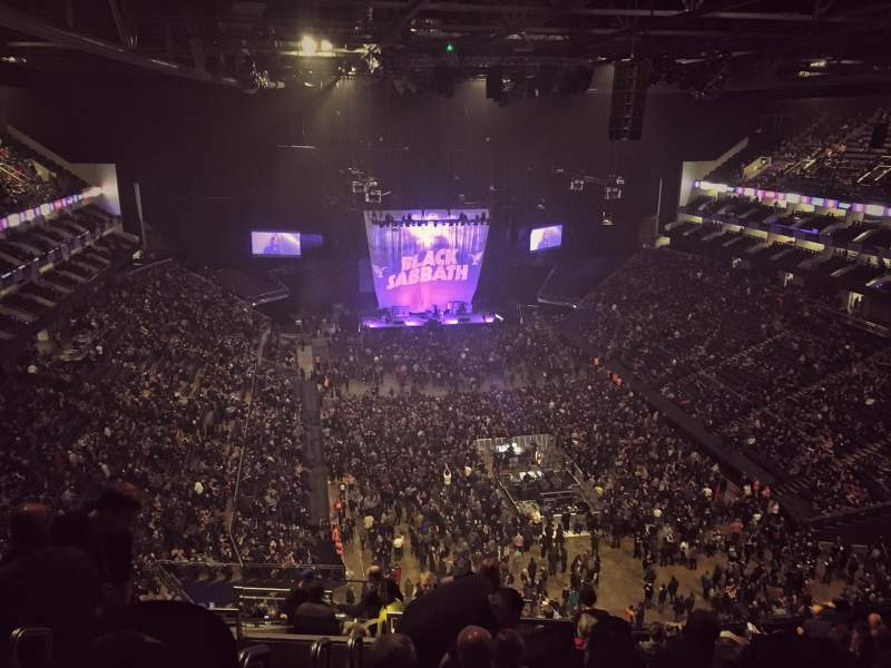 The o2 arena section 410 row n seat 685 black sabbath for Hotels 02 arena london