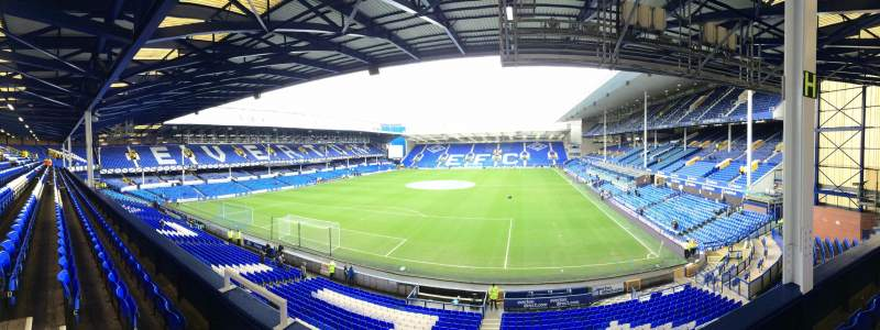 Seating view for Goodison Park Section Upper Gwladys 2 Row D Seat 59