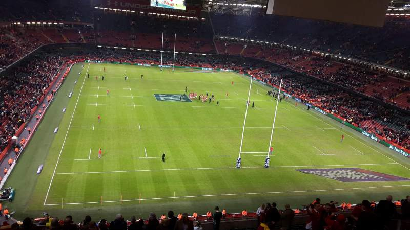 Principality Stadium, section: U21, row: 25, seat: 6