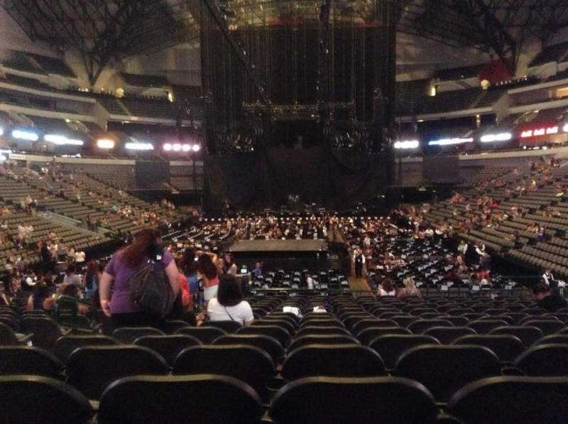 American Airlines Center Section 112 Row P Seat 19
