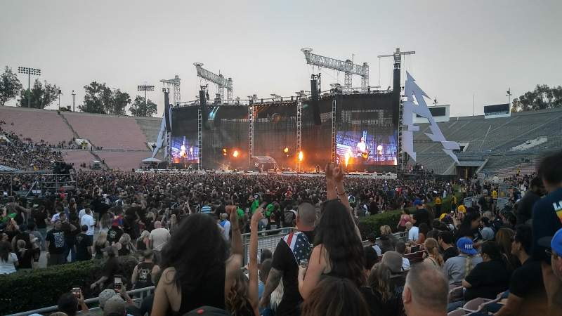 rose bowl section 17l row 6 seat 15 avenged