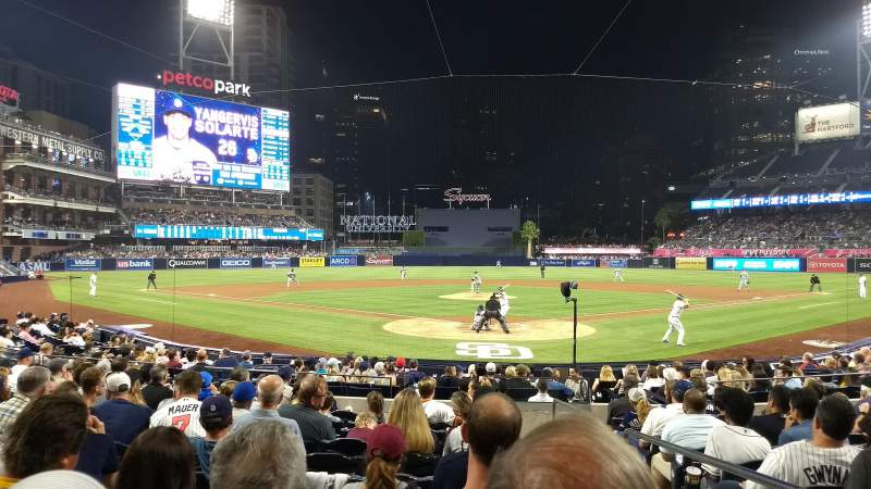 Seating view for Petco Park Section Field VIP 102 Row 18 Seat 2