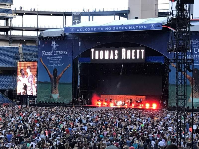 Gillette Stadium, section: 137, row: 21, seat: 16