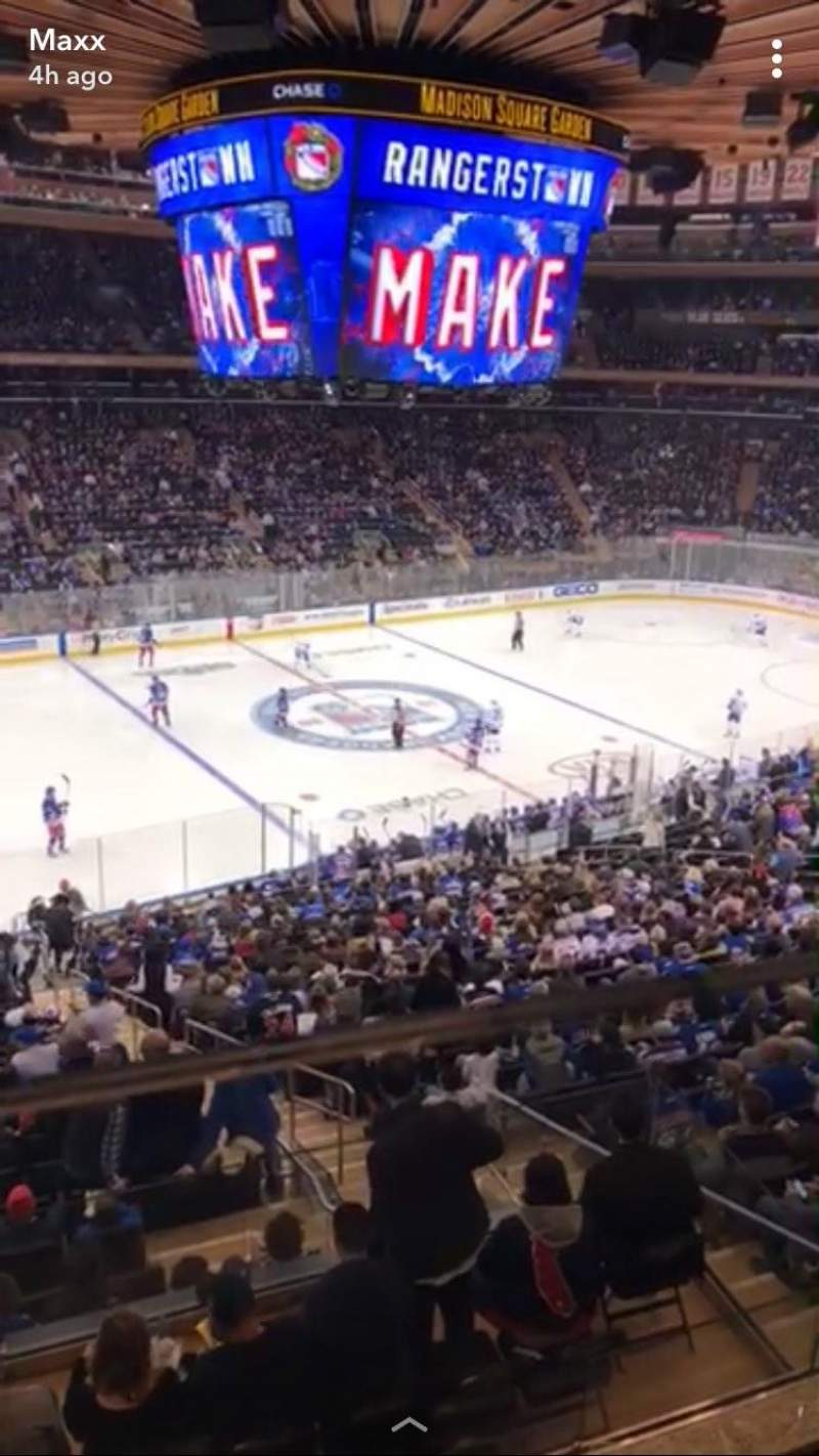 Madison Square Garden, section 209, row 1, seat 10 - New ...
