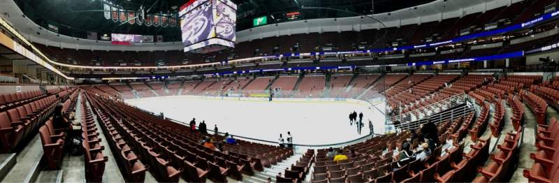 Seating View For Honda Center Section 219 Row Q Seat 10