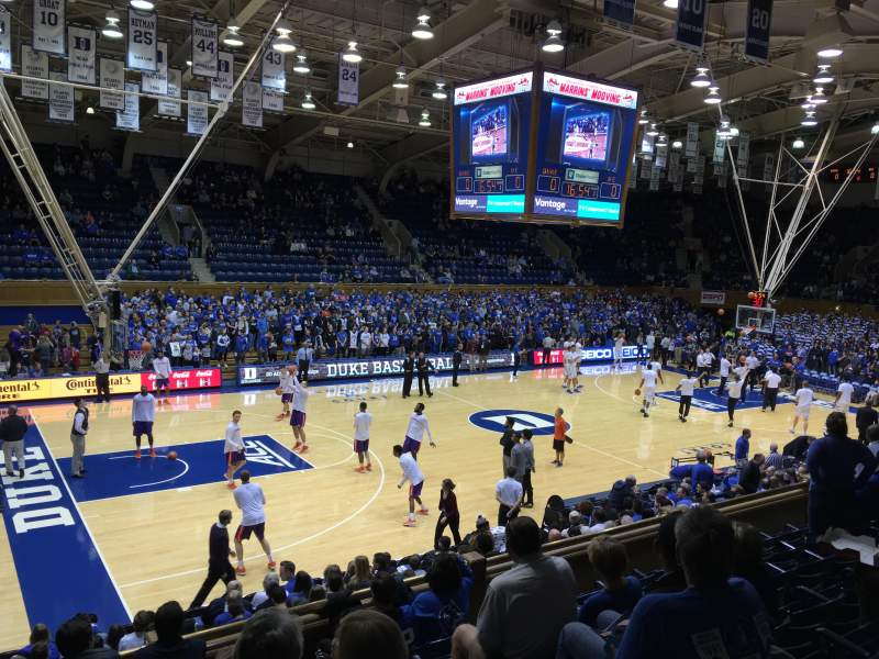 Cameron Indoor Stadium Section 5 Row G Seat 1 And 3