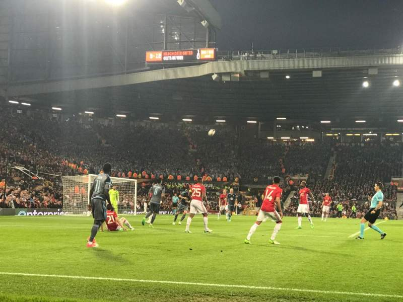 Seating view for Old Trafford Section N1404 Row BB Seat 226