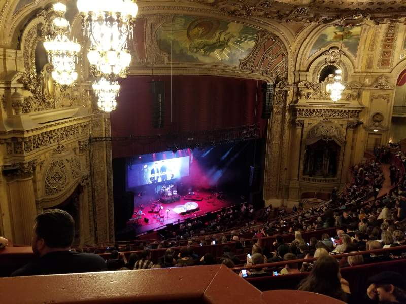 Seating view for Chicago Theatre Section Balcony Box 8 Seat 63