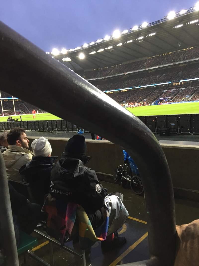 Twickenham Stadium, section: L21, row: 3, seat: 93