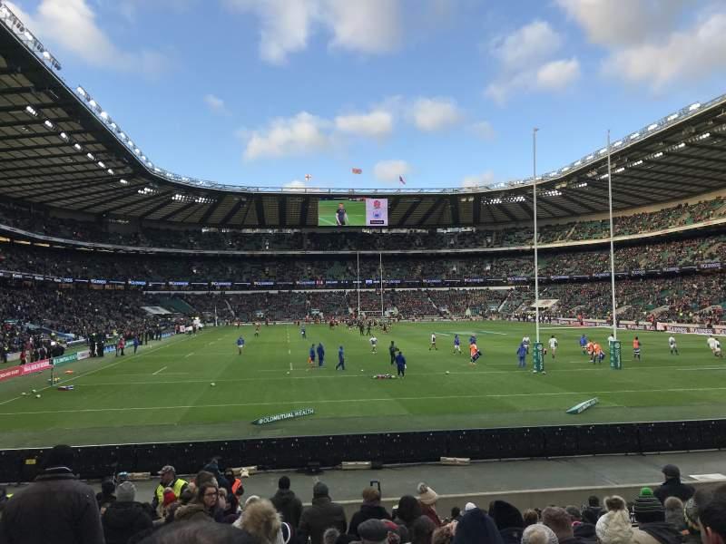 Twickenham Stadium, section: L35, row: 18, seat: 207