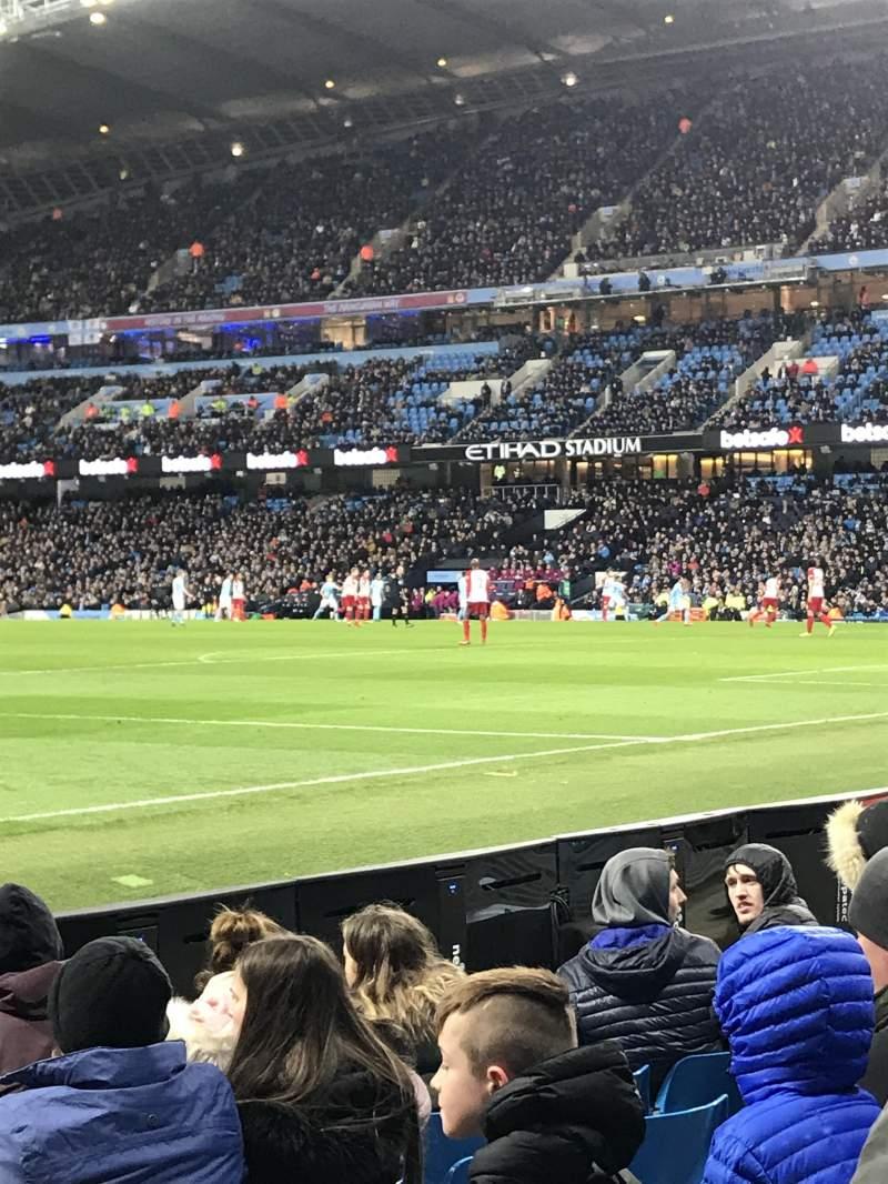Etihad Stadium (Manchester), section: East, row: 140