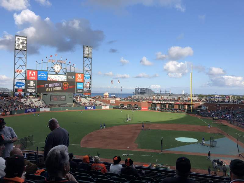 AT&T Park, section: 222, row: H, seat: 8