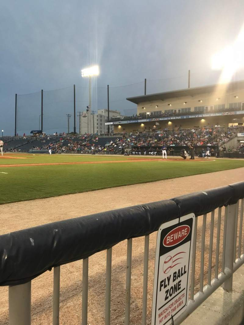 MGM Park, section: 108, row: A, seat: 17