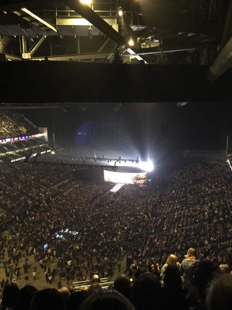The O2 Arena, section: 414, row: S, seat: 767
