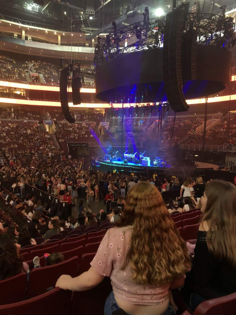 Seating view for Wells Fargo Center Section 114 Row 13 Seat 5