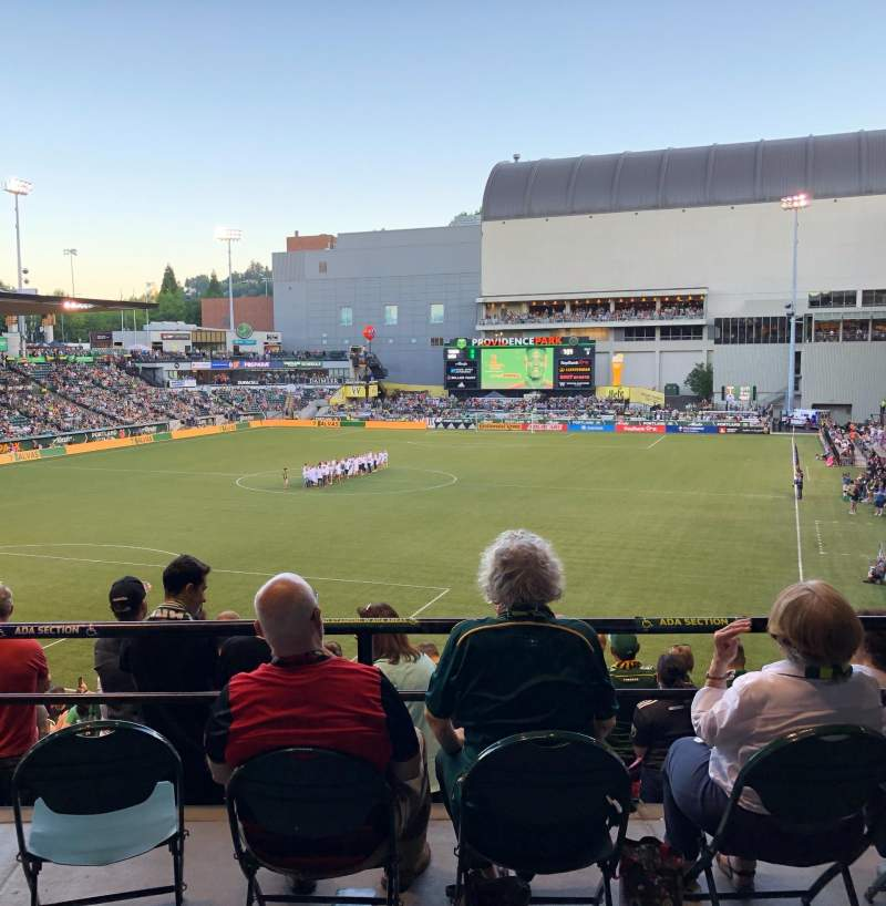 Seating view for Providence Park Section 210 Row A Seat 11