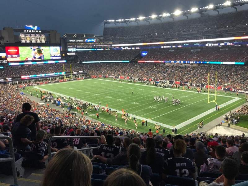 Gillette Stadium, section: 203, row: 24, seat: 27