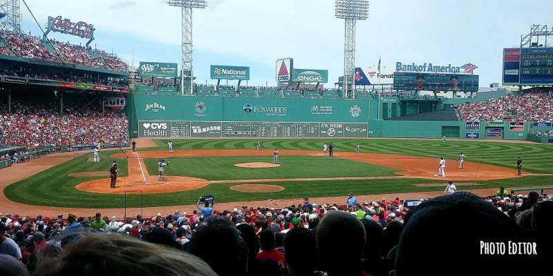 Fenway Park, section: Loge 124, row: NN, seat: 4