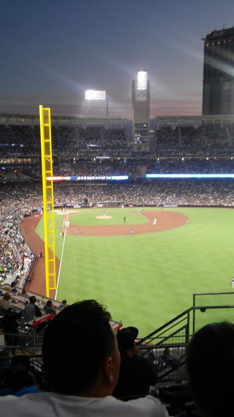 Seating view for PETCO Park Section 227 Row 14 Seat 9