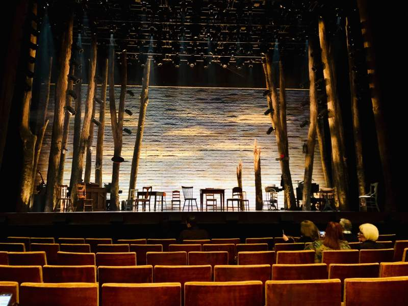Seating view for Ahmanson Theatre Section Orchestra Row F Seat 21
