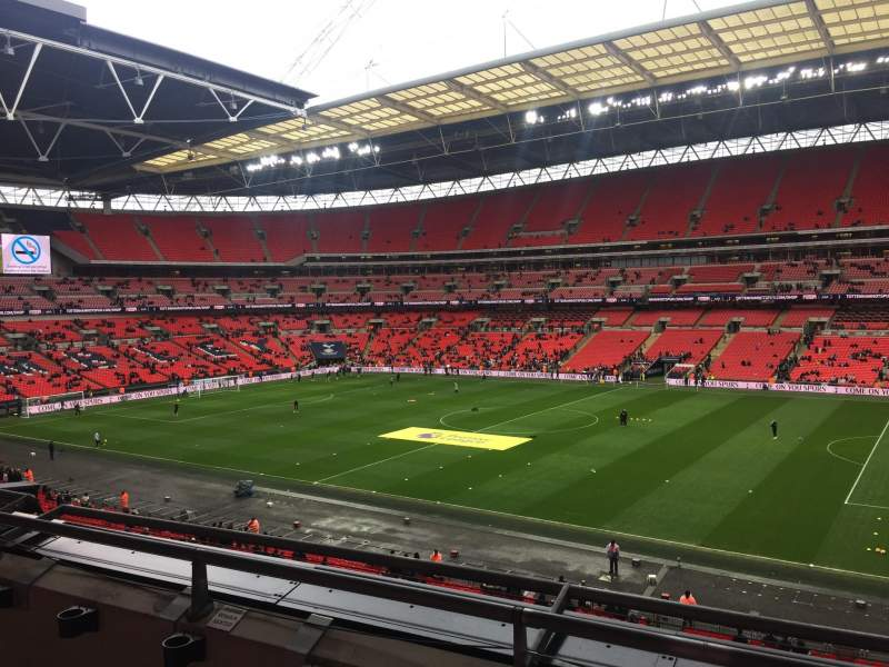 wembley stadium section 223 row 3 seat 227 tottenham. Black Bedroom Furniture Sets. Home Design Ideas