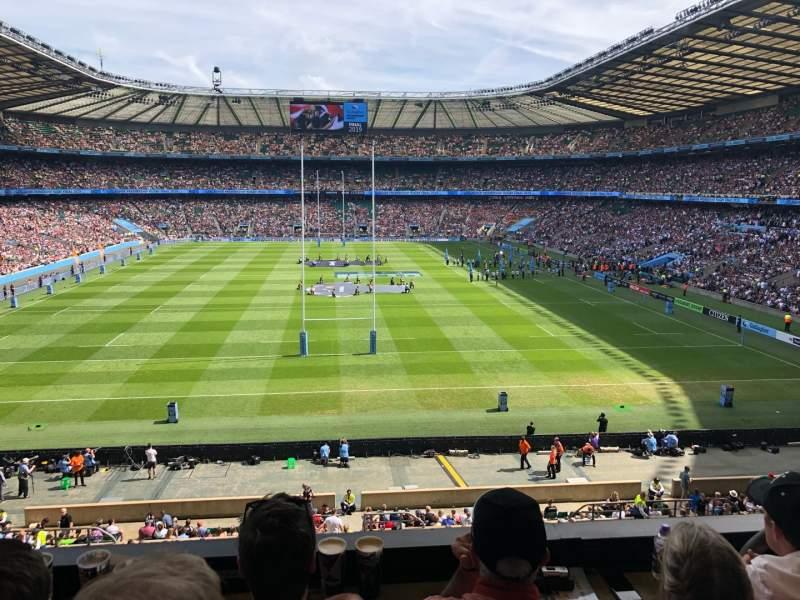 Seating view for Twickenham Stadium Section M20 Row 53 Seat 133