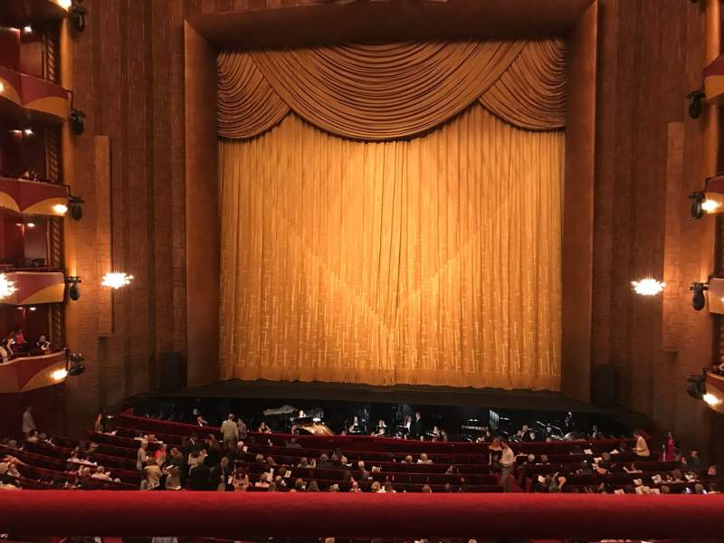 Seating view for Metropolitan Opera House - Lincoln Center Section Grand Tier Row A Seat 110