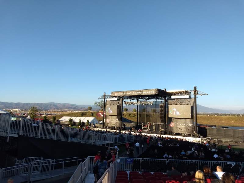 FivePoint Amphitheater, section Terrace 302, row 12, seat ...