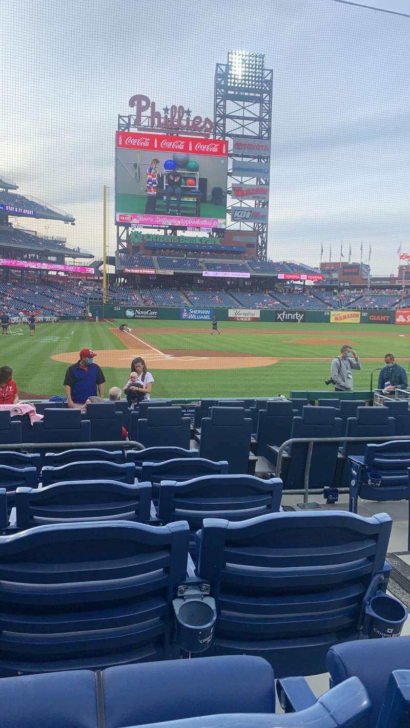 Seating view for Citizens Bank Park Section Diamond F Row 10 Seat 2
