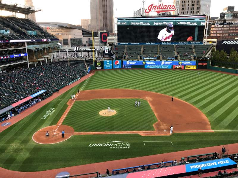 Seating view for Progressive Field Section 548 Row a Seat 1