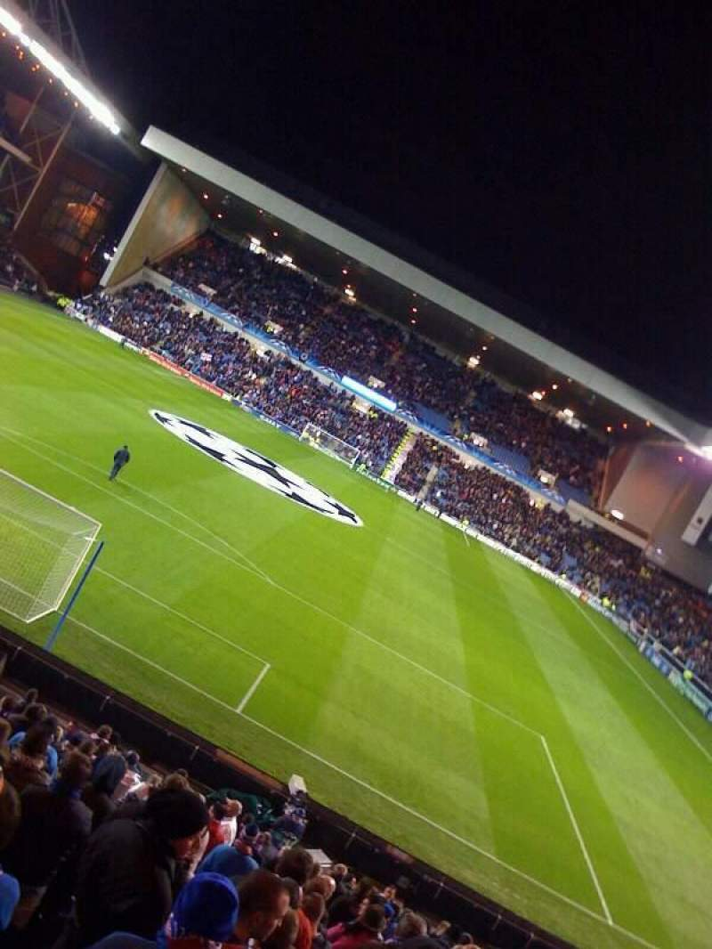 Seating view for Ibrox Park Section copland road Row aa Seat 063