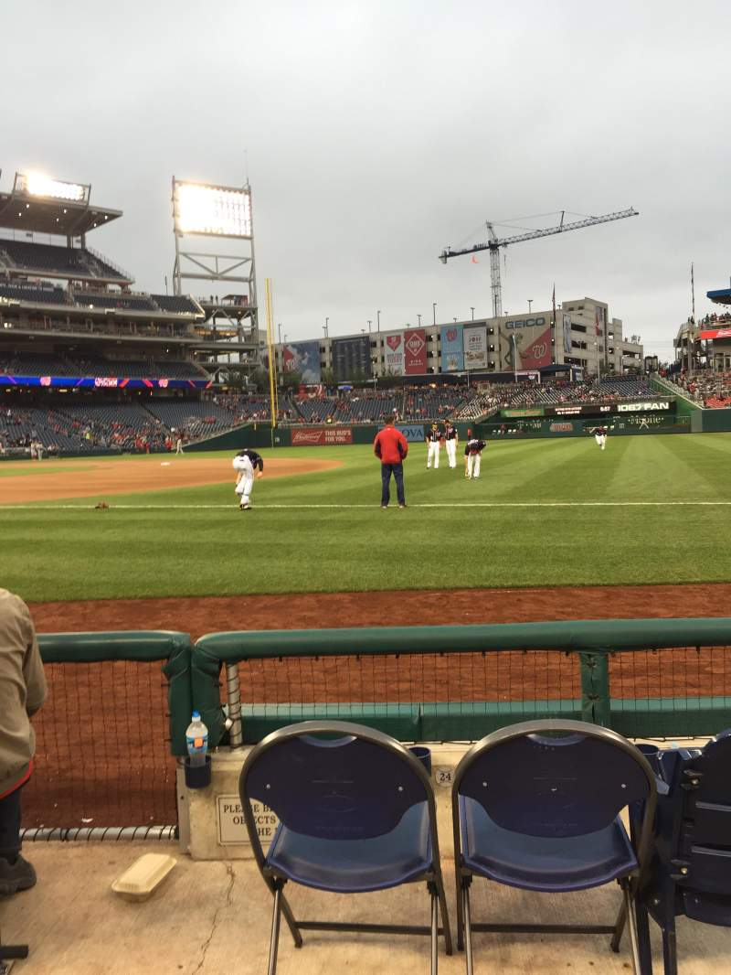 Seating view for Nationals Park Section 133 Row D Seat 18