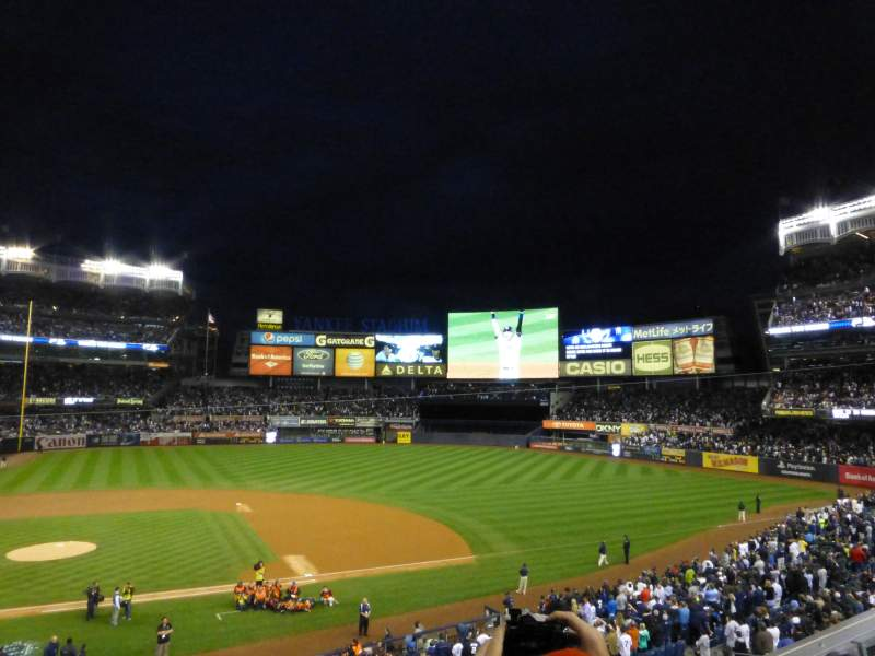 Seating view for Yankee Stadium Section 216 Row 3 Seat 13