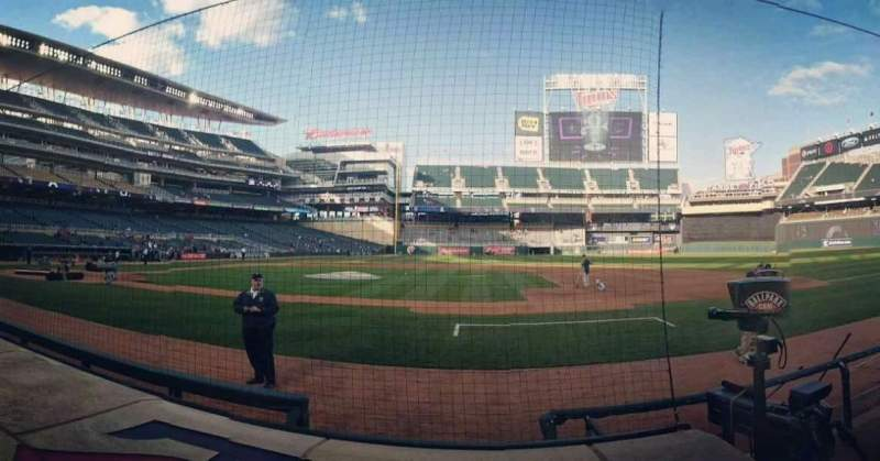 Target Field, section: 4, row: 5, seat: 8