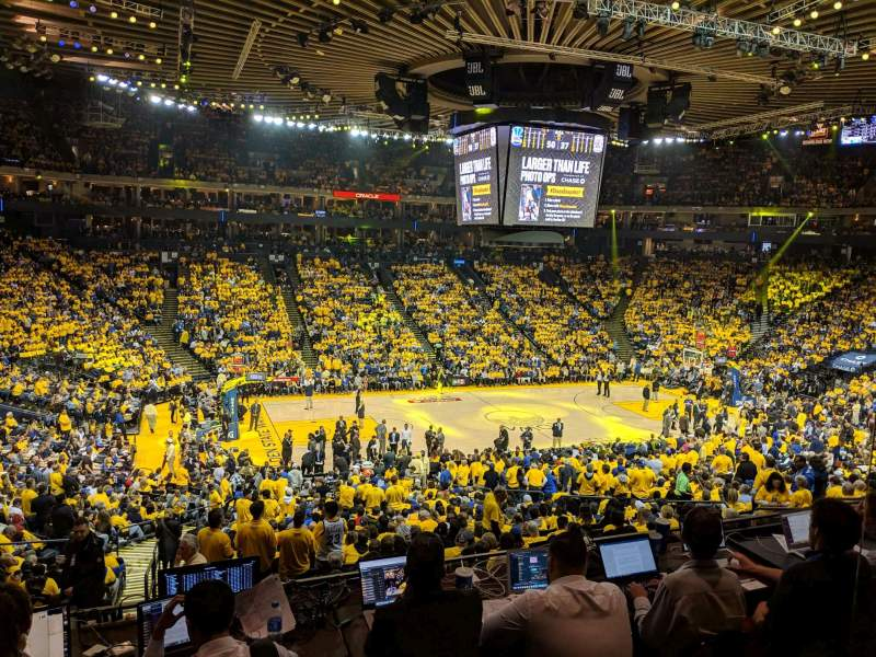 Seating view for Oracle Arena Section C11 Row 2 Seat 2