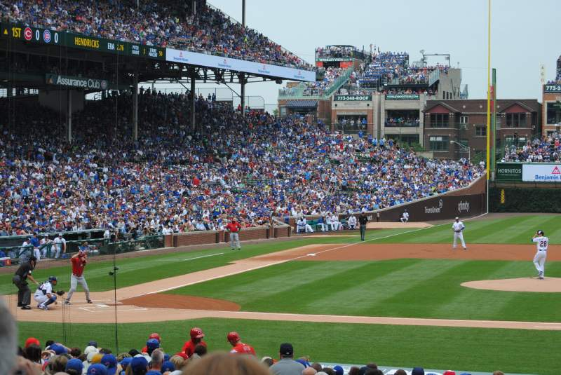 Seating view for Wrigley Field Section 129 Row 12 Seat 101