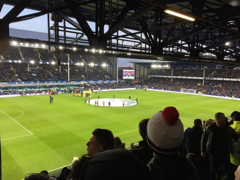 Seating view for Goodison Park Section UV1 Row L Seat 0044