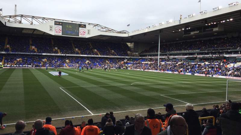 White Hart Lane, section: 36, row: 7, seat: 145