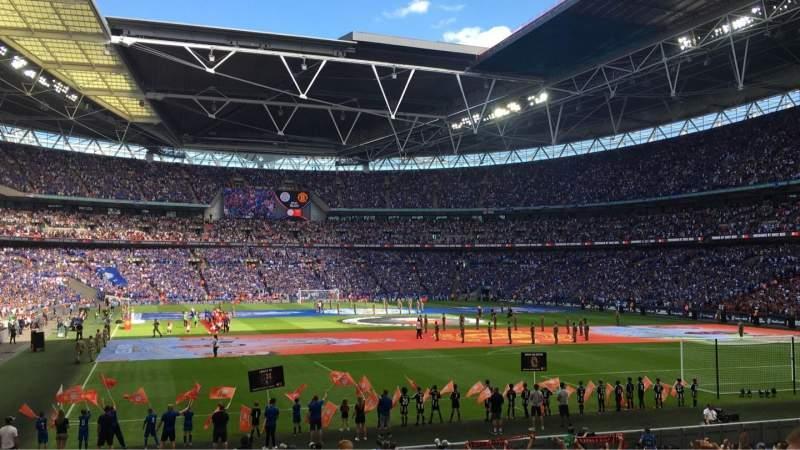 Wembley Stadium, section: 110