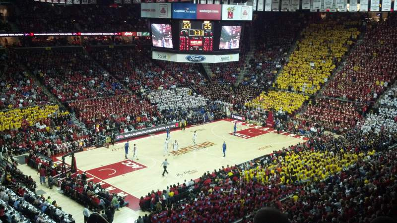 Seating view for Xfinity Center (Maryland) Section 211 Row 12 Seat 1