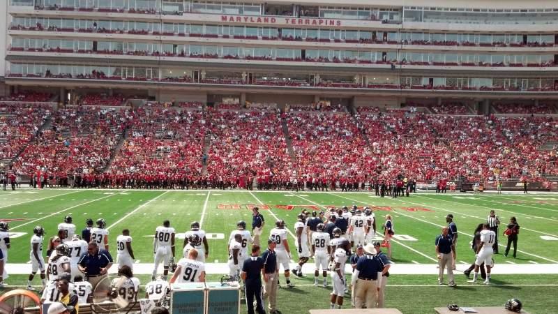 Maryland Stadium, section: 5, row: L, seat: 5
