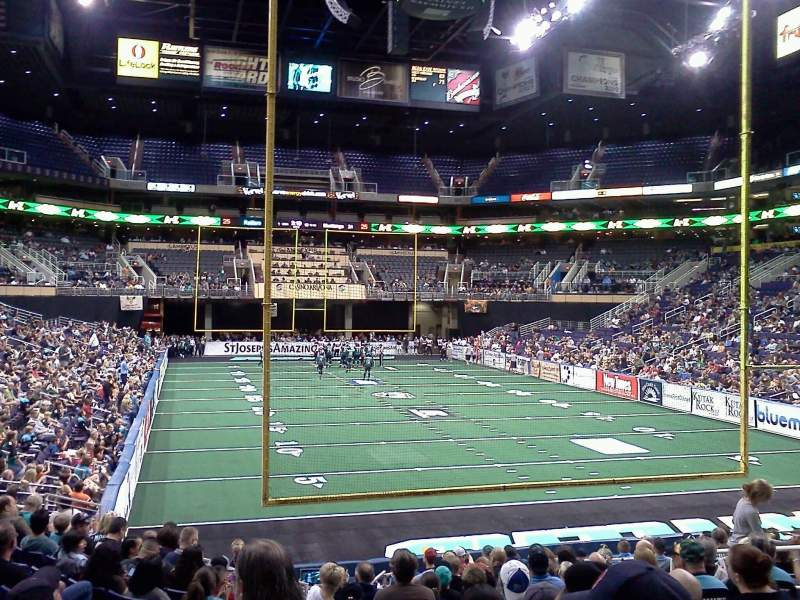 Seating view for Footprint Center Section 109 Row 15 Seat 11